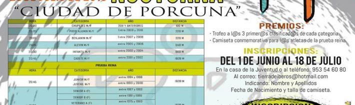 MILLA NOCTURNA «CIUDAD DE PORCUNA» (7ª edición)