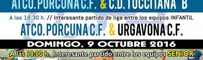 FÚTBOL: Atco. Porcuna C.F- U.D.C Pavia