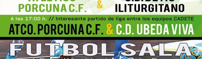 FÚTBOL SALA: A.D. Porcuna Futsal – ASOC. Jaén Deportivo Futsal