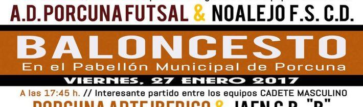 Baloncesto:  Porcuna Arte Ibérico – CPVO Maristas de Jaén (Infantil Masculino)