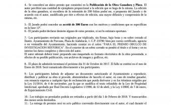 """Premio Obulco de investigación histórica """"Ciudad de Porcuna"""" – 2017"""