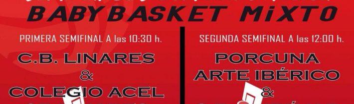 Baloncesto:  Semifinales Copa Diputación  (BabyBasket Mixto)