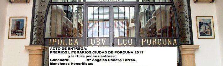 Entrega de premios literarios «Ciudad de Porcuna»