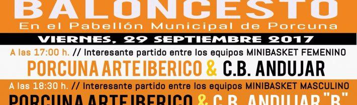 Baloncesto:  Porcuna Arte Ibérico – CB Andujar B  (MiniBasket Masculino)
