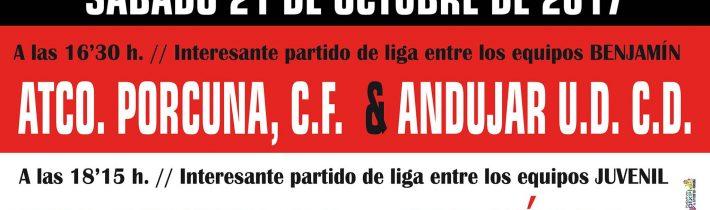 Fútbol: Atco. Porcuna – Real Jaén C.F SAD  (JUVENIL)
