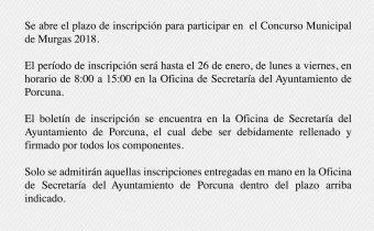 Inscripción en el concurso municipal de murgas