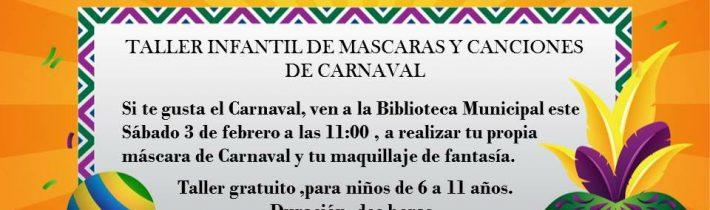 Taller infantil de carnaval