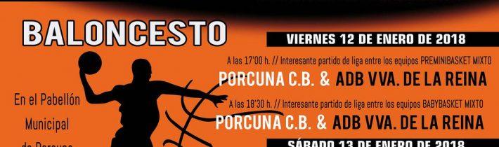 Baloncesto:  Porcuna Arte Ibérico – ADB VVA de la Reina (PreMiniBasket Mixto)