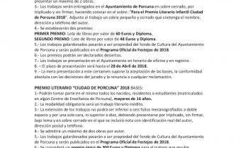 """Premios literarios """"Ciudad de Porcuna"""" (infantil y senior)"""