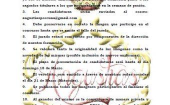 Cartel anunciador Semana Santa Banda de la Angustias
