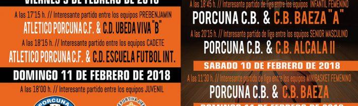 Fútbol: Atco. Porcuna – CD Escuela Fútbol Int.  (CADETE)