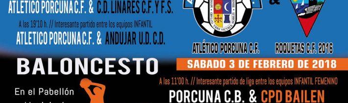 Fútbol: Atco. Porcuna – CD Linares CF Y FS  (ALEVIN)