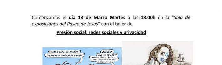 Taller: Presión social, redes sociales y privacidad