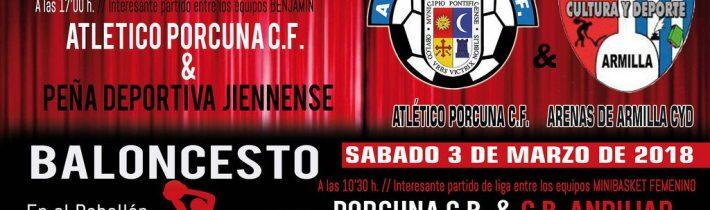 Fútbol: Atco. Porcuna – Peña Deportiva Jiennense  (BENJAMIN)