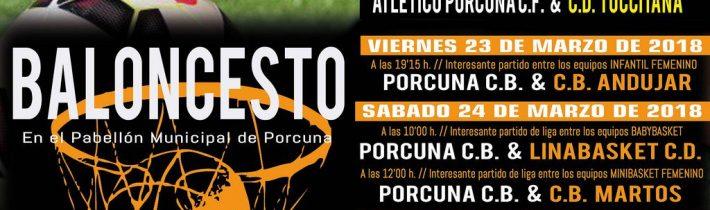 Baloncesto:  Porcuna Arte Ibérico – CB Andujar (Infantil femenino)