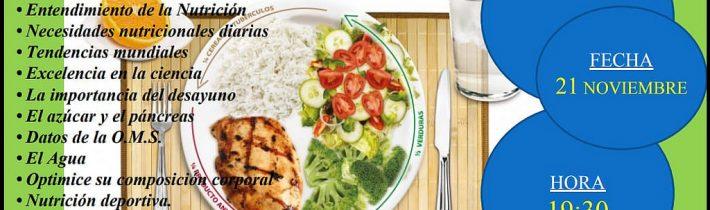 Charla sobre nutrición