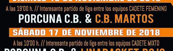 Baloncesto base del Porcuna C.B (4 partidos)
