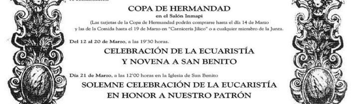 Pregón en honor a San Benito
