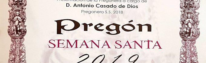 Pregon Semana Santa 2019
