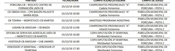 Fase final Copa Diputación Minibasket femenino.