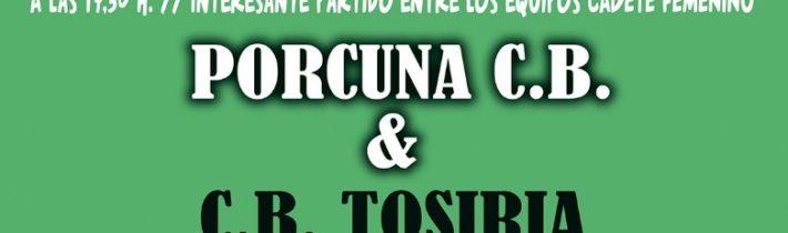 "Baloncesto:  Porcuna Arte Ibérico – CB Andujar ""B"""