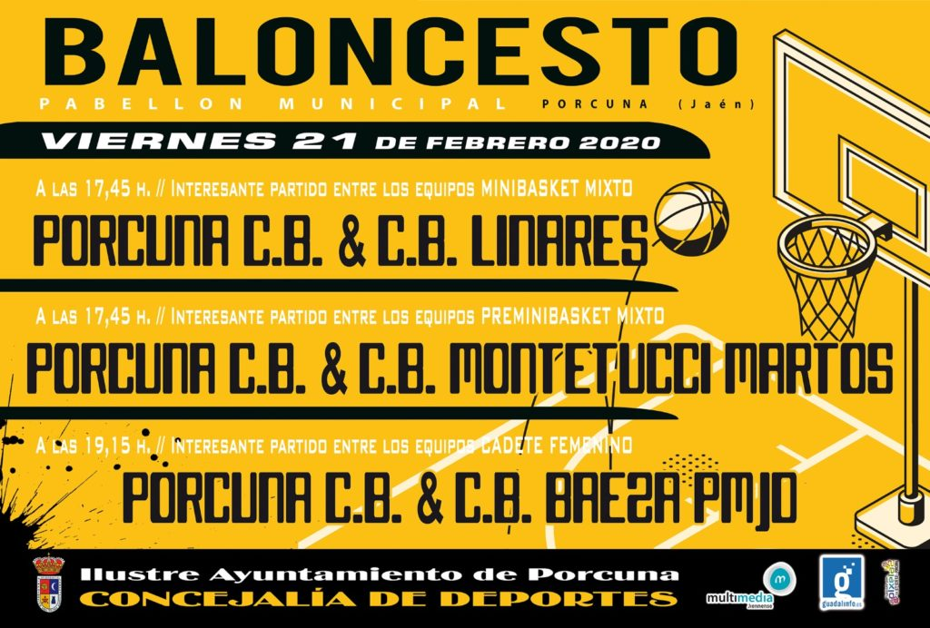 Cartel evento Porcuna Baloncesto