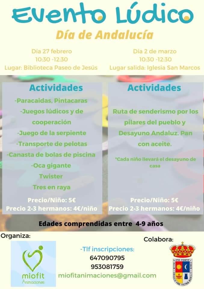 Actividades infantiles para el día de Andalucía