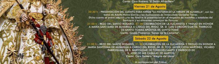 Rosario y Triduo de la Virgen de Alharilla