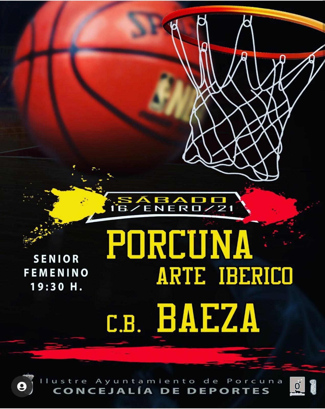 Baloncesto: Porcuna Arte Ibérico - CB Baeza