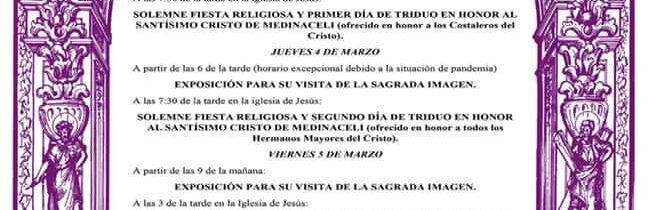 Triduo al Cristo de Medinaceli