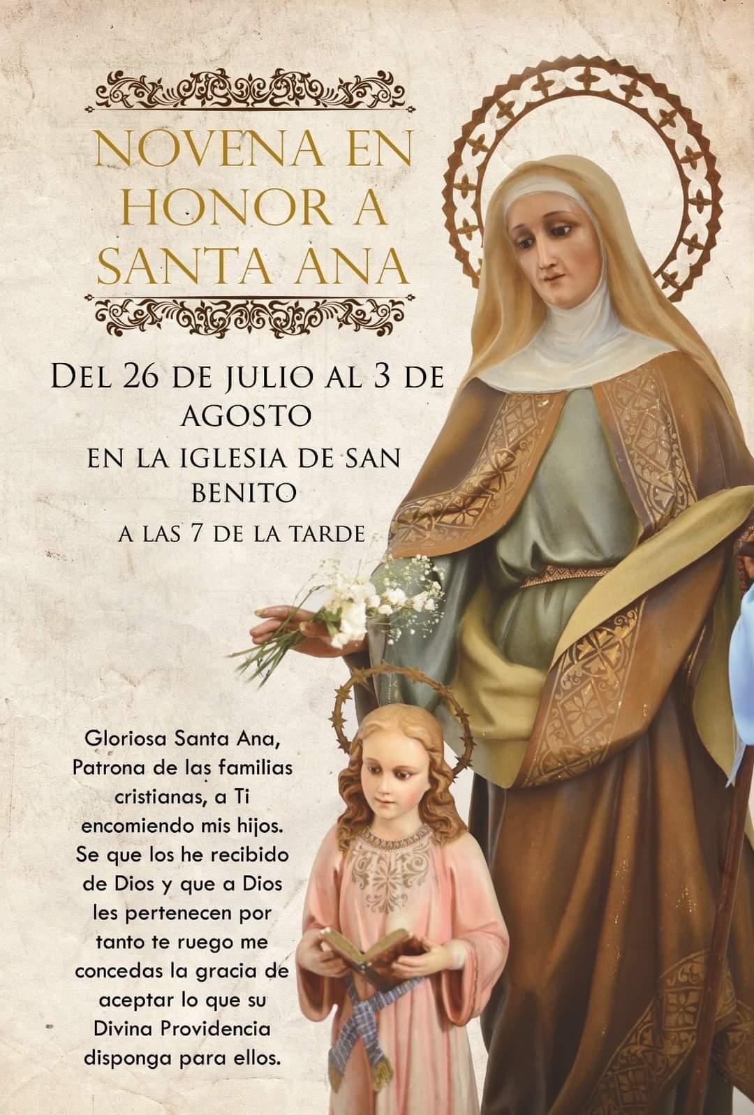 Novena en honor a Santa Ana