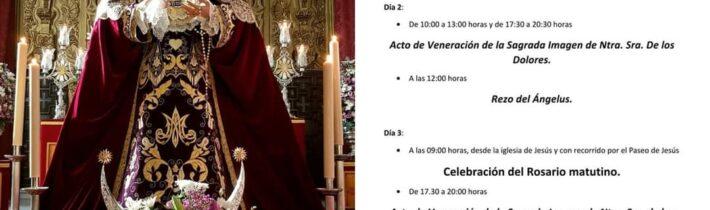 Cultos a la Virgen de los Dolores