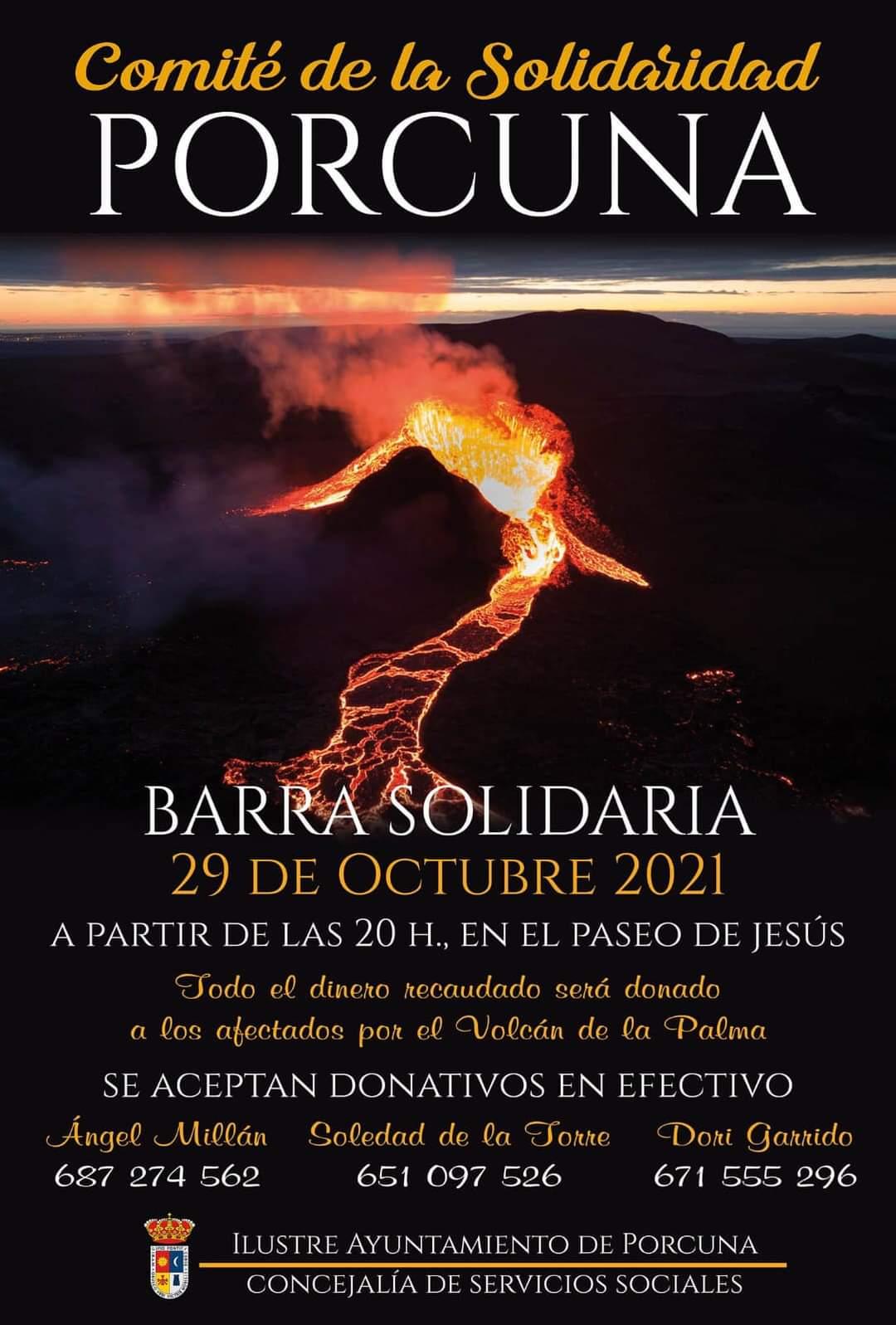 Barra solidaria volcán de La Palma